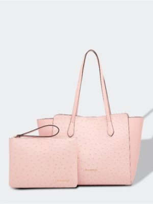 Franco ostrich pale pink internal bag